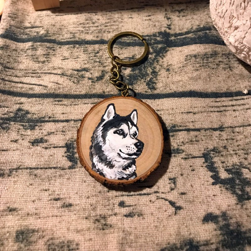 Hand-painted | Hairy Kids | Key Chain | Customized