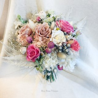 French aesthetic bouquet - pink / white / dry flower bouquet / wedding photo / wedding