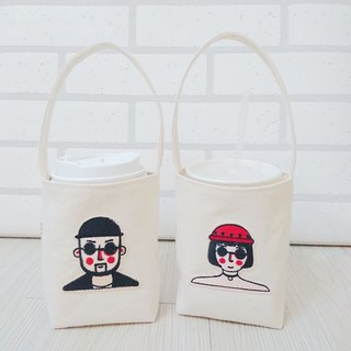 Environmental protection bag beverage coffee bag embroidered sunglasses male / female 2 into
