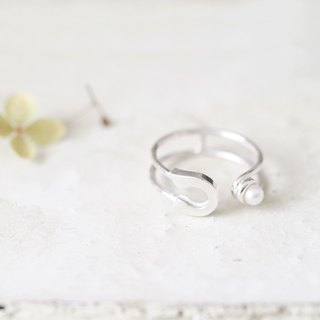 Pearl 安全ピン リング Ring Silver925