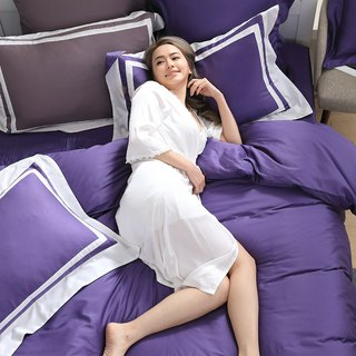 (Double size) Dream original color - Violet 60 cotton multi-layer design bed package four-piece group