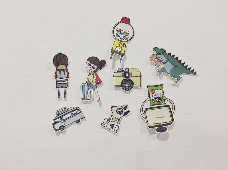 Illustration Sticker - Let's go Travel !! Good Buddy for Notepad