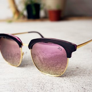 Polarized Sunglasses│Purple Half Rim Frame│Pink Lens│UV400 Protection│2is TamiV