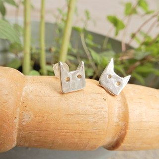 Cat sterling silver earrings