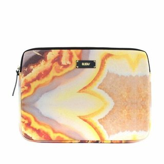 "HARD SWIRLS Orange 13"" Laptop Case"