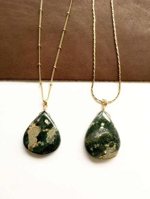 Indian jasper long necklace