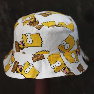 Cartoon Simpson double-sided fisherman hat