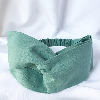 Plain cross hair band - lake green