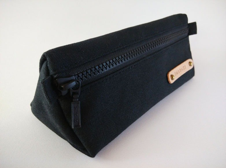 Gifts / Handmade Canvas Pencil Bags / Free Customized Branding (Black)