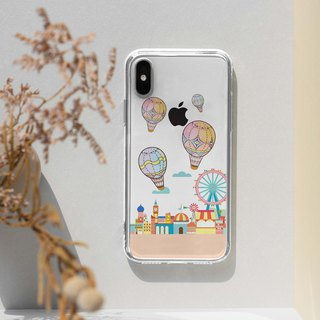 Helium Hot balloon Clear TPU silicone Phone Case phone X 8 8+ 7 S8 plus S7 edge