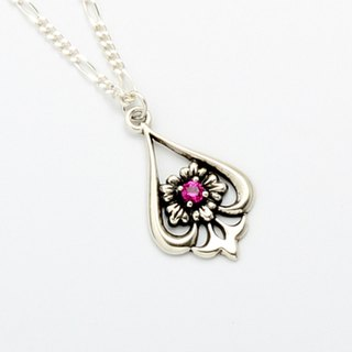 Ruby Iris s925 sterling silver necklace mother's Day