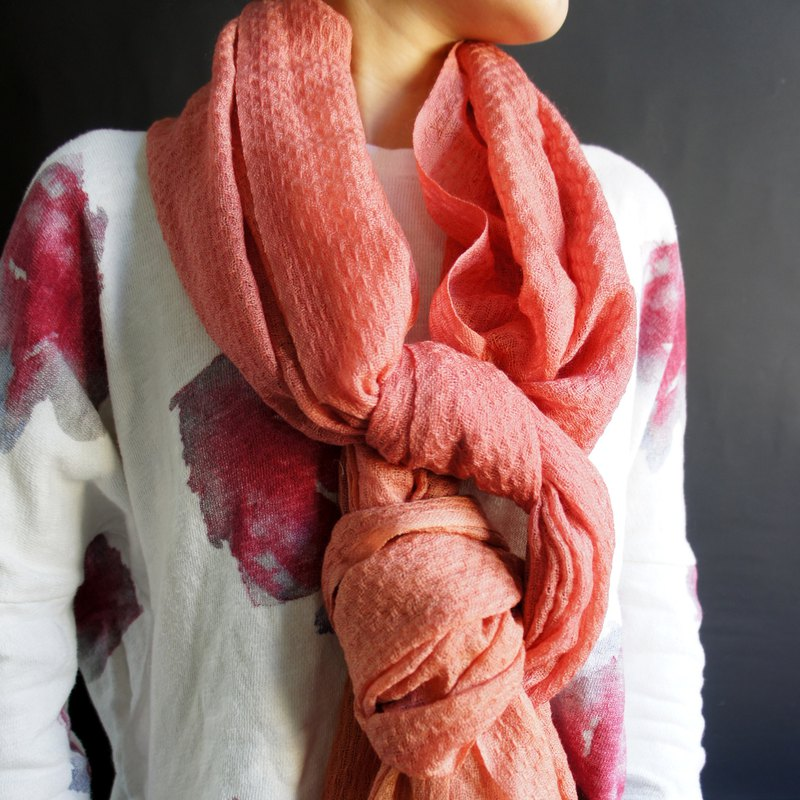 Pure dyed wool scarves
