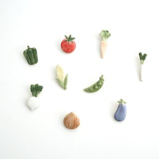 Vegetable pin brooch