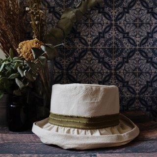 Japanese style double-sided fisherman hat / color beige