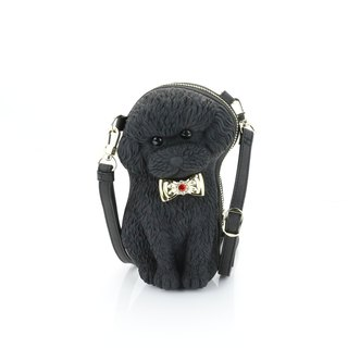 Adamo 3D Bag Original Bow Poodle Sling Bag - Black