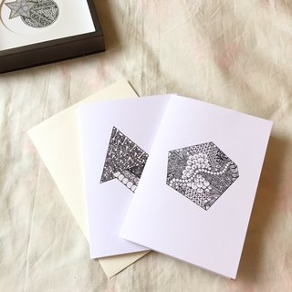 Gift Coloring Cards in Tangles Art (2PCS/SET)