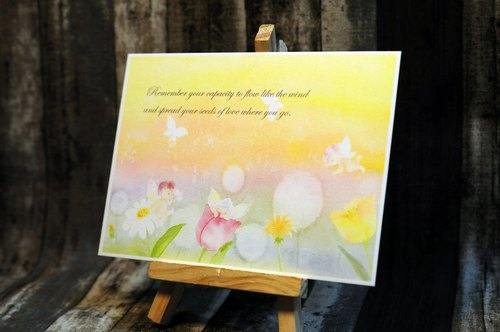 Hand painted watercolor postcards - whispers from heaven