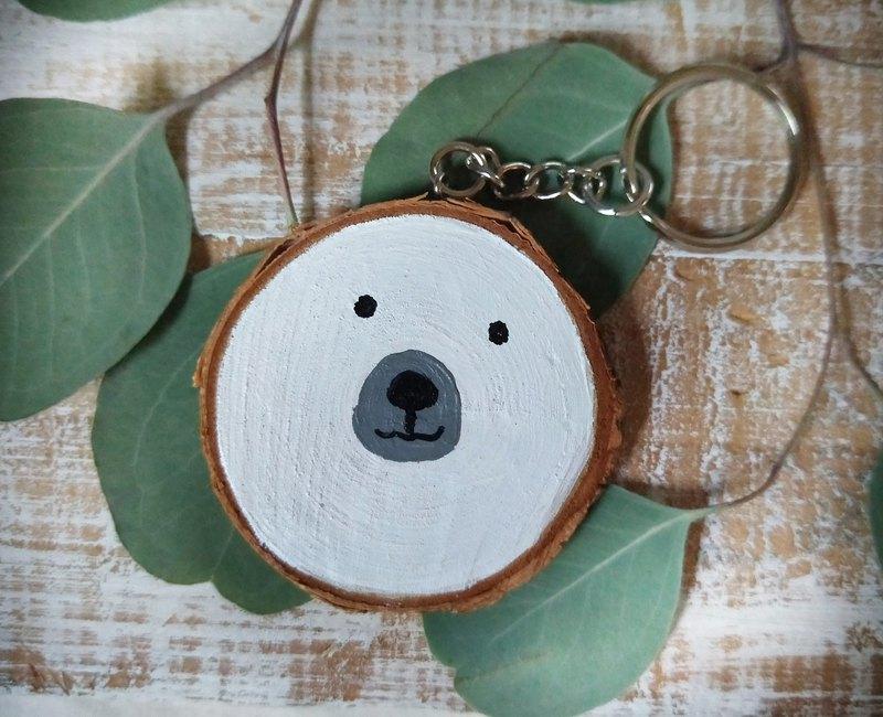 手繪木片鑰匙圈|動物表情|送禮小物