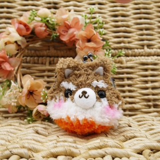 Knitting animal mini purse mouth gold bag - Shiba