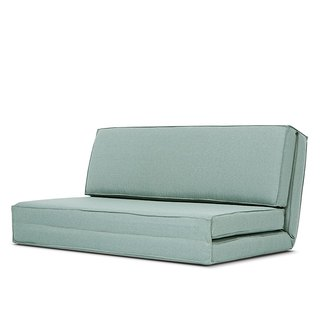 Otaru AJ2 │ │ │ lake green two-seater sofa bed and a room