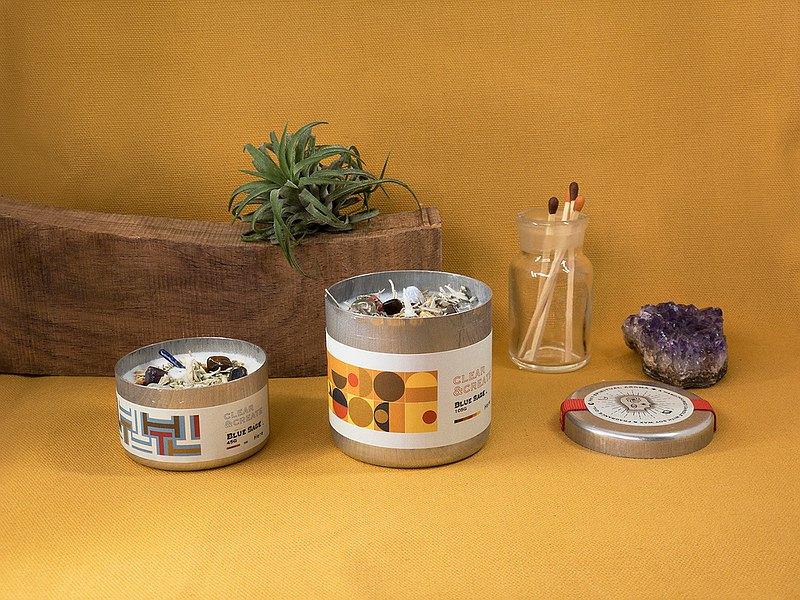 CLEAR&CREATE 水晶花草能量香氛蠟燭 藍鼠尾草