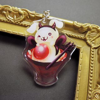 Acrylic Double Sided Charm - Halloween Rabbit - Eyeball Soup