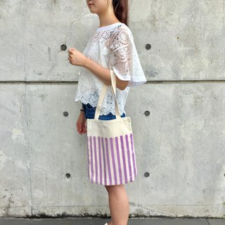 Purple stripes Wenqing wind shoulder bag / bag