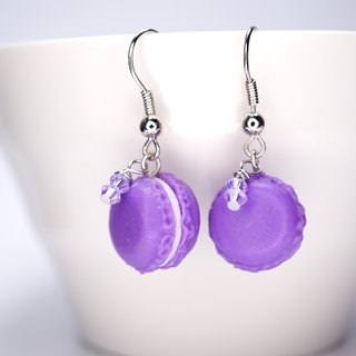 *Playful Design* Taro Macarons Drop Earrings with Swarovski