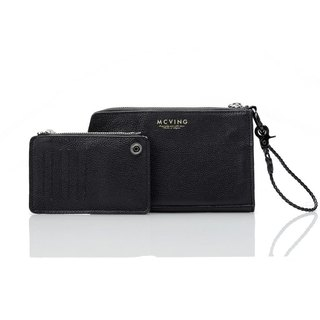 Hand bag - black leather