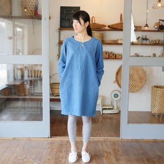 Ethical Hemp Cocoon One Piece Japanese Indigo Dyeing