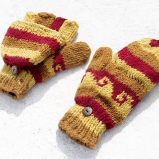Christmas gift creative gift limited to a hand-woven pure wool knitted gloves / removable gloves / bristles / gloves (made in nepal) - walk in the sunset in the desert national totem