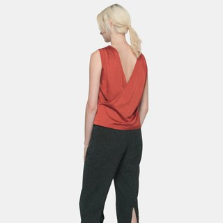 Back Drape Top (Burnt Orange)