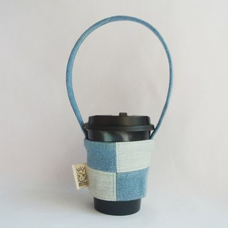 Light color denim stitching personality series cup set