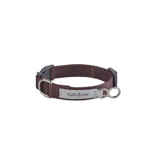 [Tail and me] classic nylon collar red brown