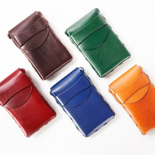 New AMEET SOFUBI series vegetable tanned leather shoulder diagonal diagonal candy color summer packet 5 colors