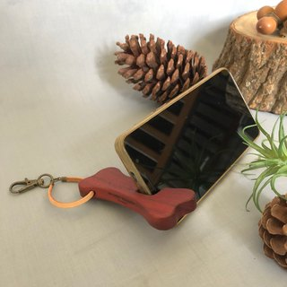 Mobile phone holder to encourage you to shape the bones, red rosewood, portable log phone holder, including the laser carving
