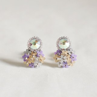 "Earrings ""bijoux & bouquet violet"""