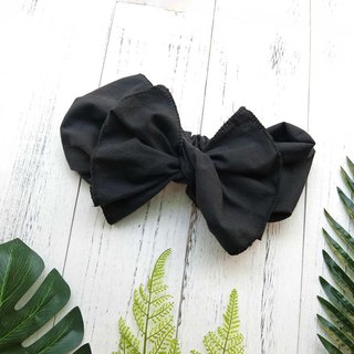 [Art shell products] giant butterfly hair band (fog black Gubu section) - the entire detachable!