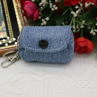 Denim Small Wallet Charm Small Coin Key Ring*SK*
