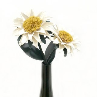 Sunflower white leather