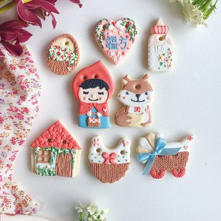 Ginseng Covered Sugar Cookies • Little Red Riding Hood LittleRed Baby Girl Handmade Creative Design Gift Box 8 Pieces**Please contact us before ordering**