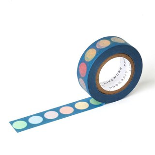 Livework Rainbow Functional Paper Tape - Rainbow Ball Navy Blue, LWK55316