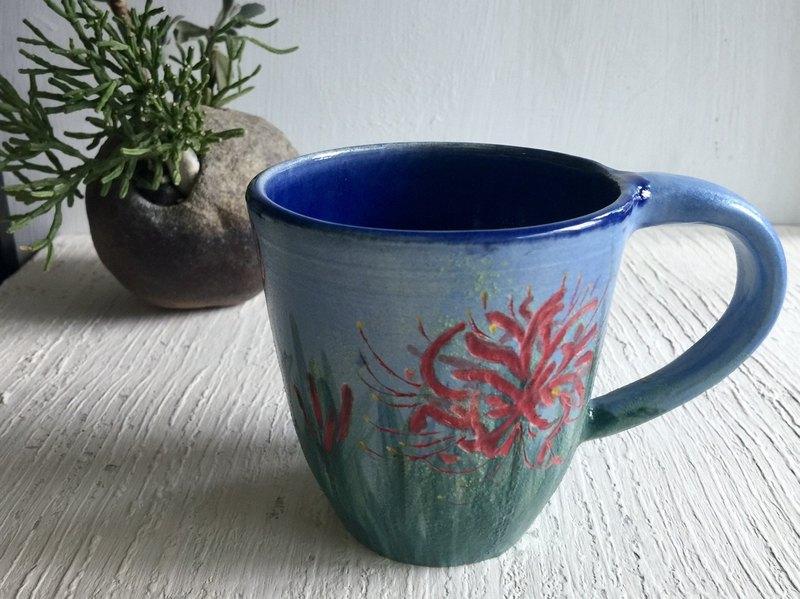 紅花石蒜。彼岸不忘情_陶器馬克杯