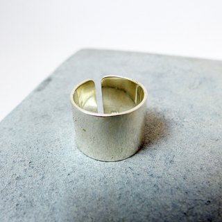 Wide plain zo.craft personalized ring / 925 Silver