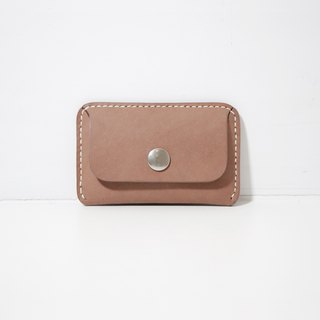 LUCE hand-sewn and vegetable tanned leather ID holder/card holder - camel