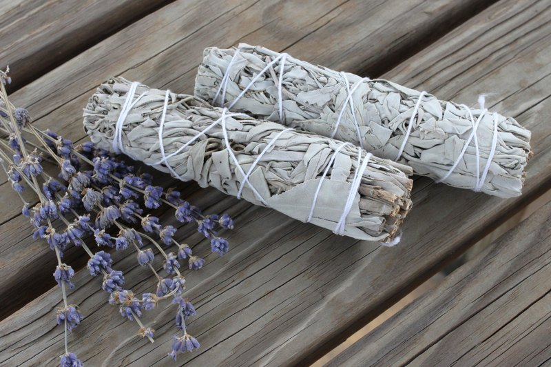 California white sage scented rod purifying space and spar