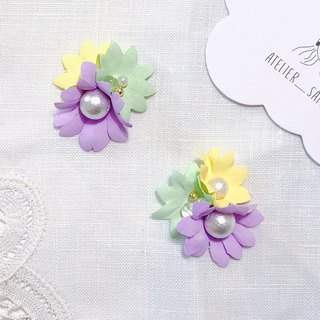 Memory Picture Book Series - Sweet and Sour Lime Flower Fabric Flower Sweet Hand Sewing Ear Ear/ear Clip