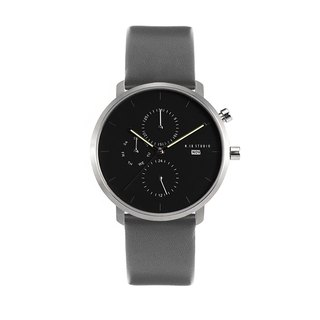 Minimal Watches : MONOCHROME CLASSIC - ONYX/LEATHER (Gray)
