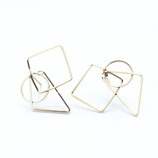 14kgf- figure easy catch pierced earrings