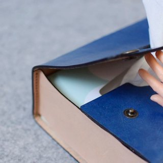 YOURS side paper box holster (flat box) blue + primary color leather